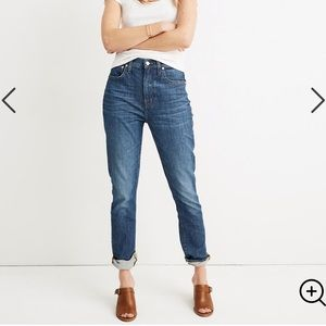 Madewell The High Rise Slim BoyJean W28 Med Wash